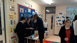 Deirdre Clune MEP investigating the work being done at St. Mary's Central NS in Tipperary.