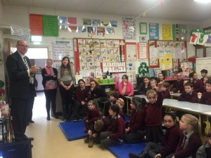 Thomas Kluck of the Dutch Embassy visiting Dromleigh NS, Cork.